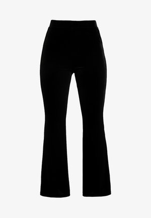 TORA VELVET TROUSERS - Bukser - black