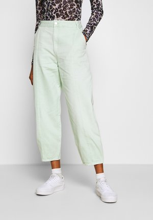 JONI TROUSERS - Bukse - green light sage