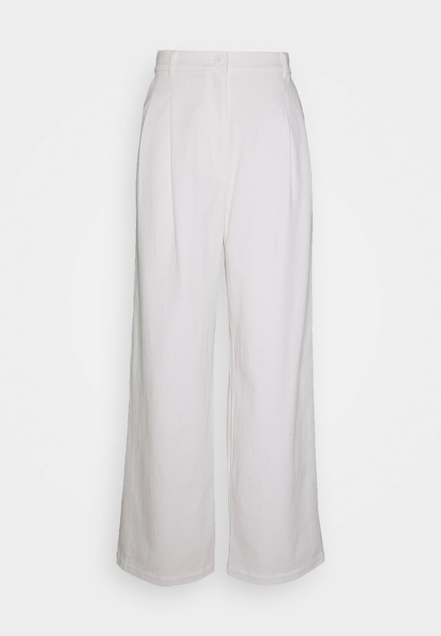 GALINA TROUSERS - Bukser - white light