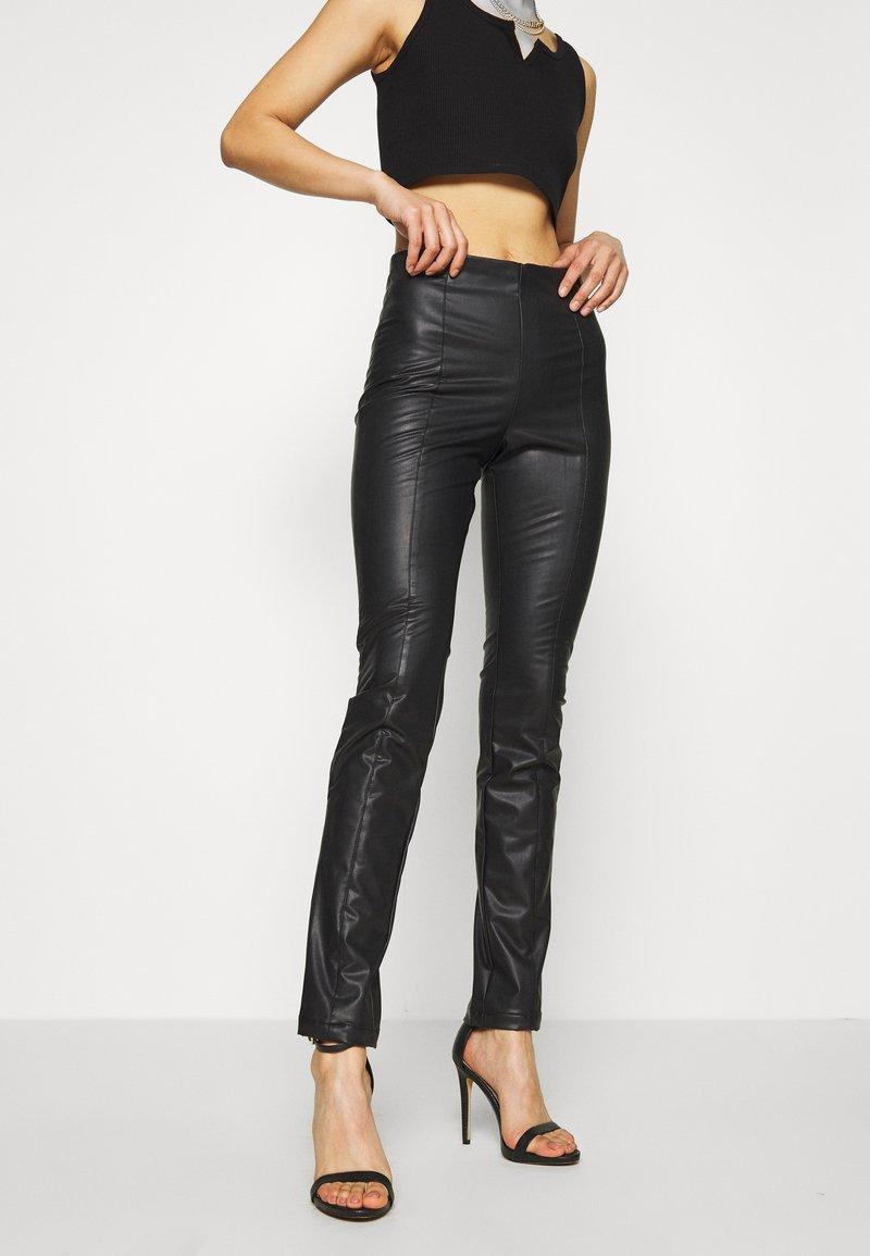 Monki - FINLEY TROUSERS - Trousers - black