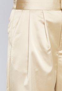 Monki - MINA TROUSERS - Spodnie materiałowe - beige - 2