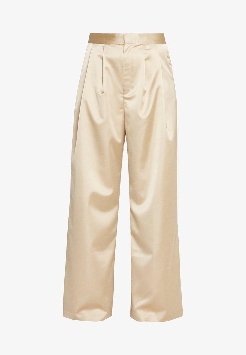Monki - MINA TROUSERS - Spodnie materiałowe - beige
