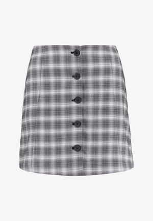 RONNIE SKIRT - Áčková sukně - grey/black/white
