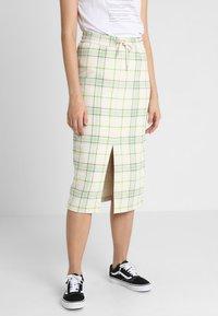Monki - GILDA SKIRT - Pencil skirt - spring ecru - 0