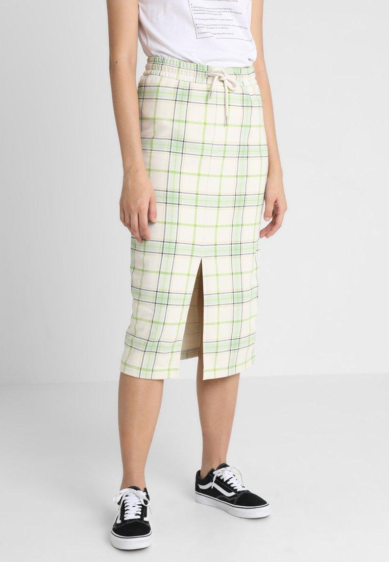 Monki - GILDA SKIRT - Pencil skirt - spring ecru