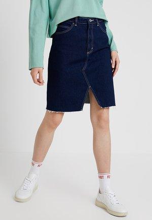 ALICE SKIRT - Pouzdrová sukně - navy/beige