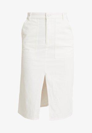 BRITTA SKIRT - Spódnica trapezowa - white