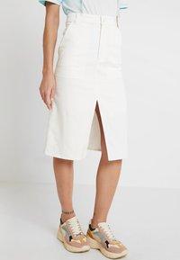 Monki - BRITTA SKIRT - A-line skirt - white - 0