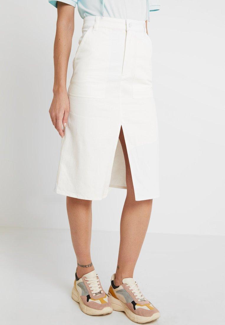 Monki - BRITTA SKIRT - A-line skirt - white