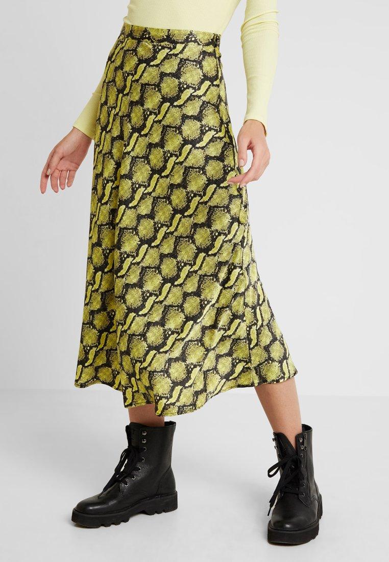 Monki - BRISA SKIRT - A-Linien-Rock - yellow/black
