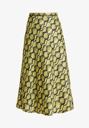 BRISA SKIRT - A-lijn rok - yellow/black