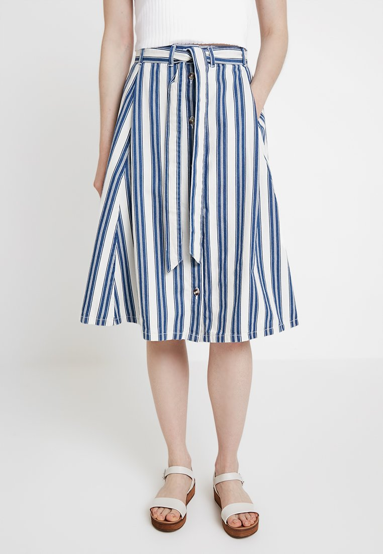 Monki - REGINA SKIRT - A-Linien-Rock - blue/white