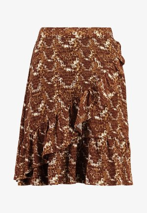 VENDI SKIRT - A-lijn rok - brown/beige