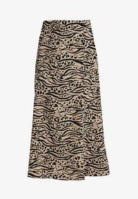 Monki - HALO SKIRT - Maxi skirt - beige/black - 3