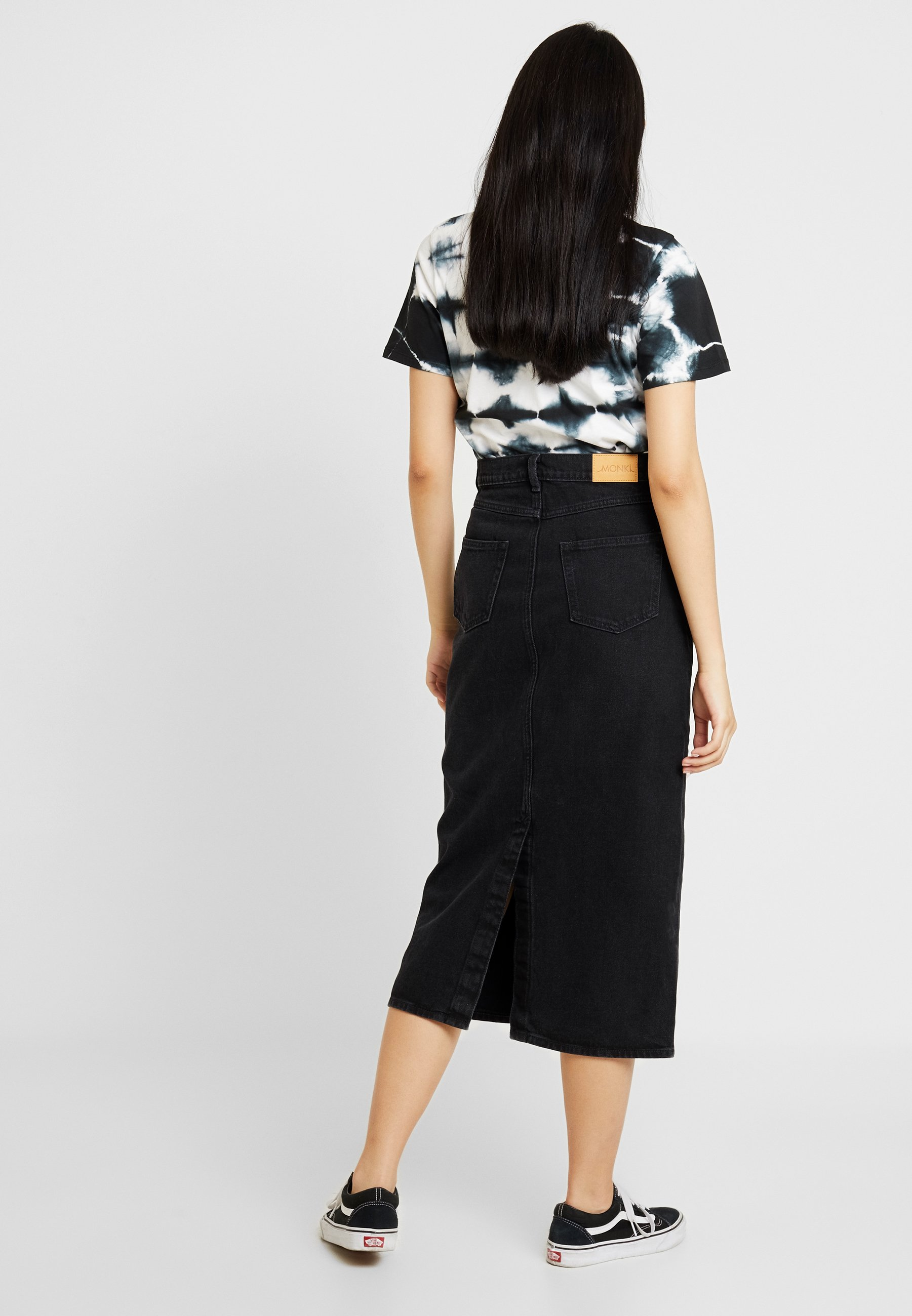 Monki JESS SKIRT - Gonna di jeans black