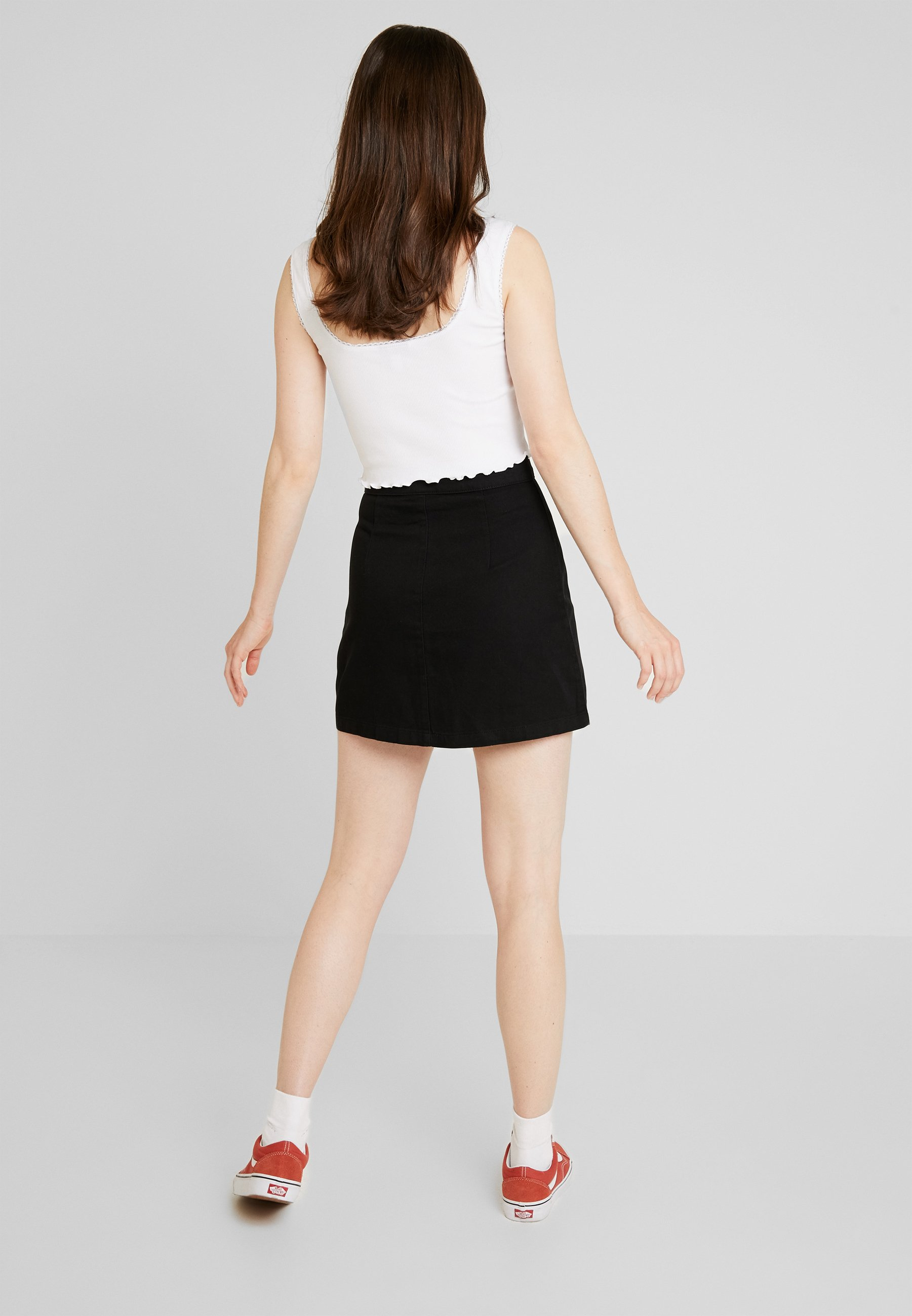 Rio Monki SkirtJupe Black Trapèze Monki Ok0PX8wn