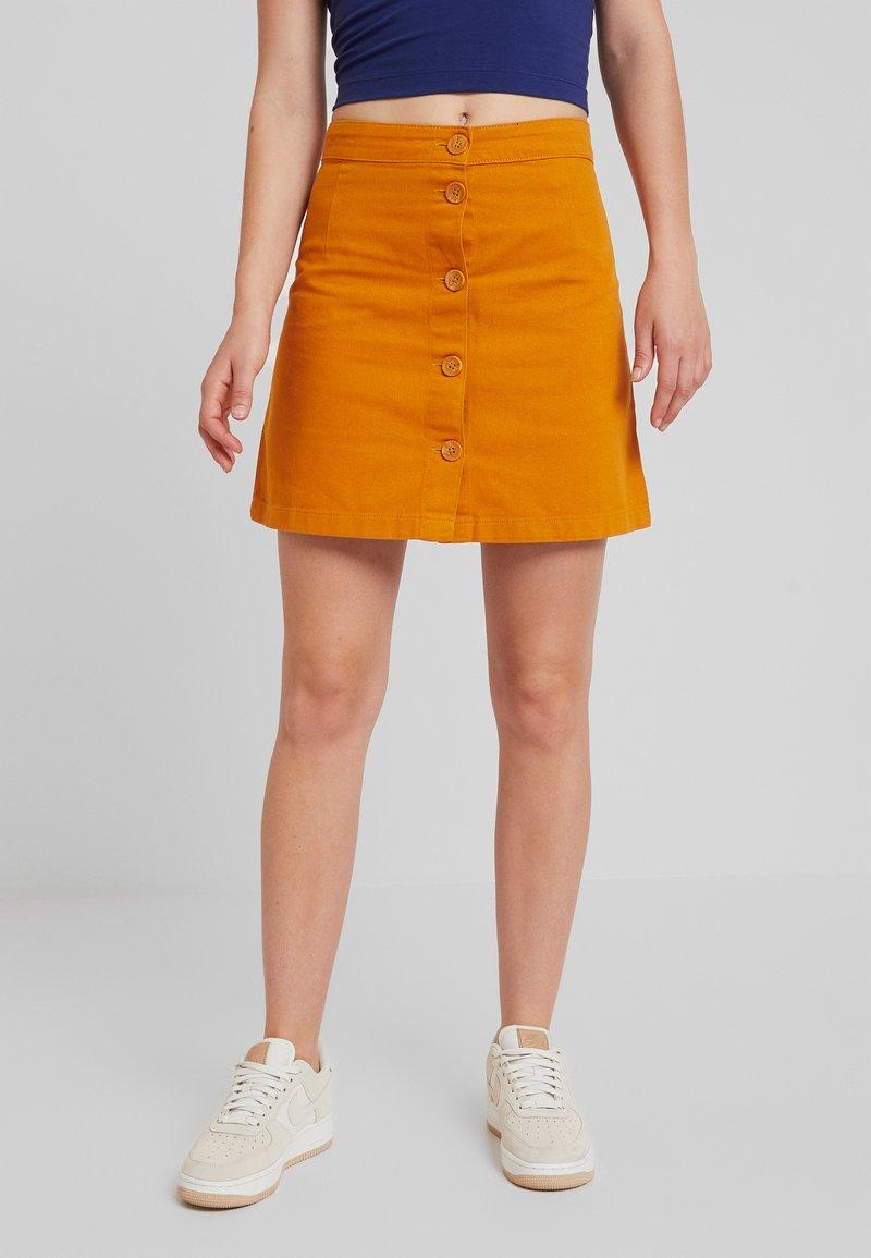 Monki - RIO SKIRT - A-line skirt - mustard