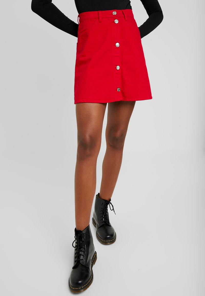 Monki - MARY SKIRT - A-line skirt - dark red
