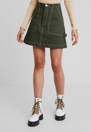 RAY SKIRT - A-snit nederdel/ A-formede nederdele - dark green/white