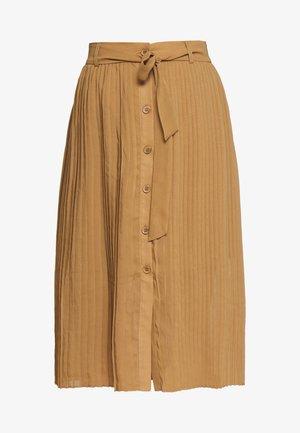 REGINA PLISSE - A-linjekjol - beige dark