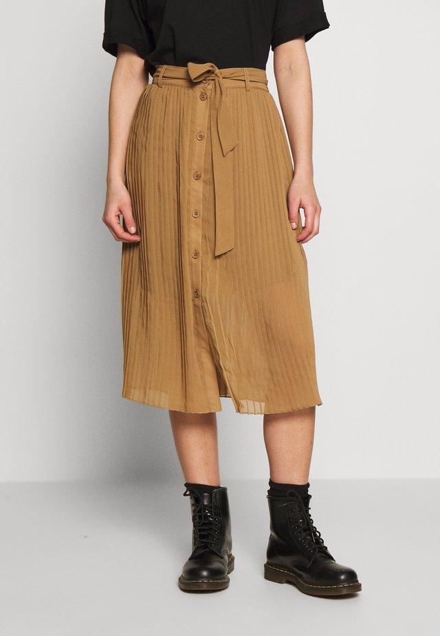REGINA PLISSE - Spódnica trapezowa - beige dark