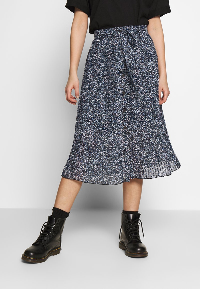 Monki - REGINA PLISSE - A-line skirt - black