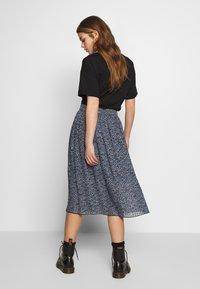 Monki - REGINA PLISSE - A-line skirt - black - 2