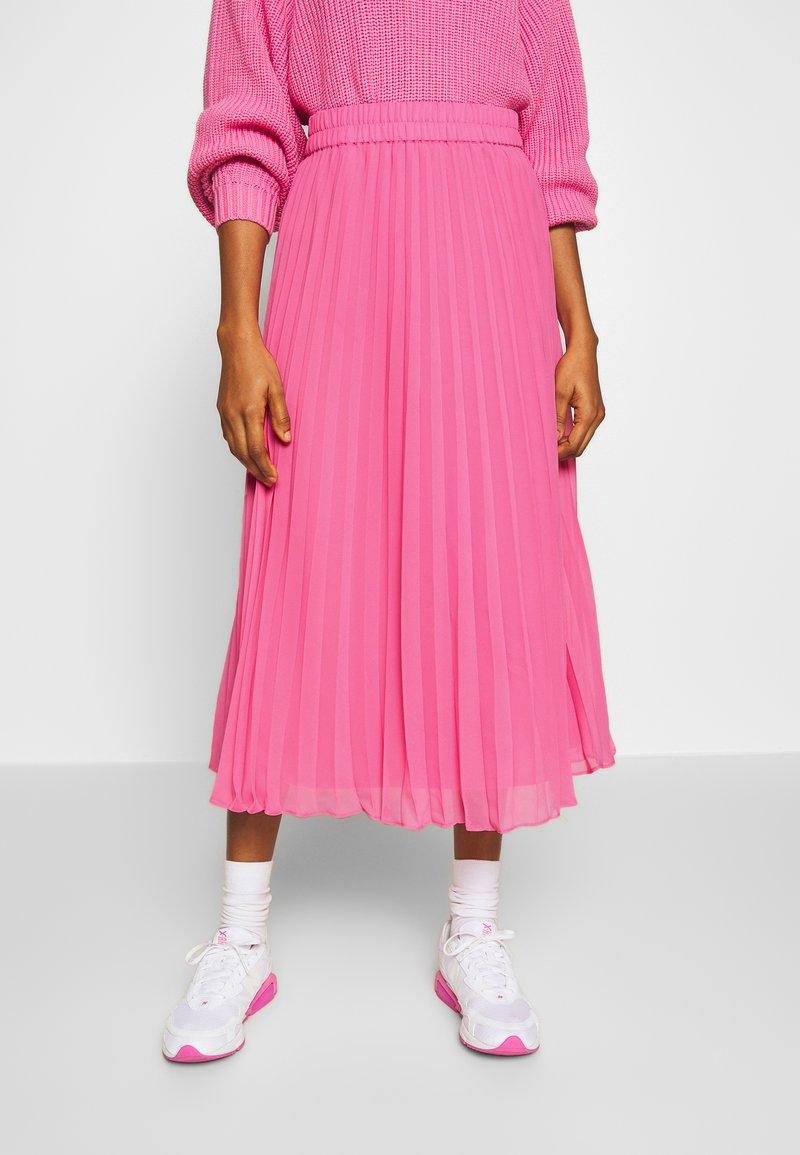 Monki - LAURA PLISSÉ SKIRT - A-line skjørt - pink