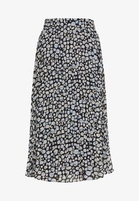 Monki - LAURA PLISSÉ SKIRT - A-linjainen hame - blue dark - 3