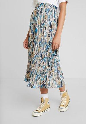 LAURA PLISSÉ SKIRT - A-line skirt - beige/tornpaper