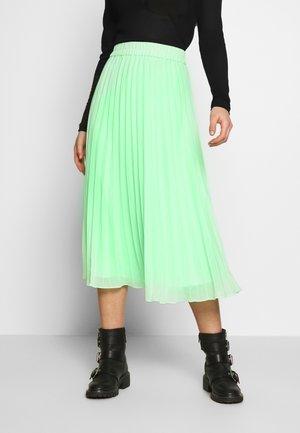 LAURA PLISSÉ SKIRT - A-line skirt - green bright