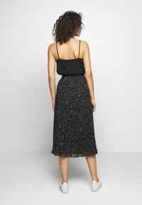 Monki - LAURA PLISSÉ SKIRT - A-line skirt - black
