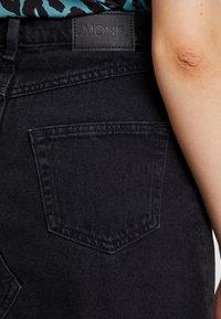 Monki - ARIA SKIRT - Denim skirt - black - 4