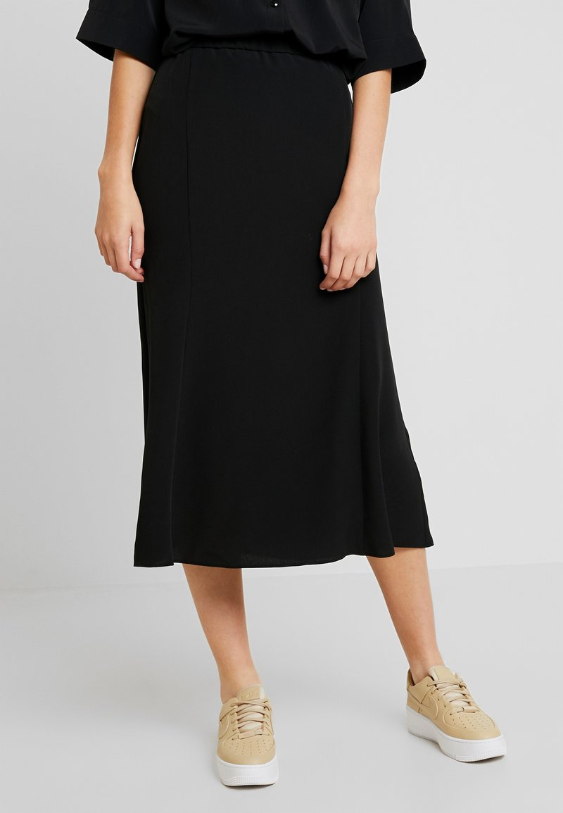 Monki - HALO SKIRT - A-line skjørt - black dark