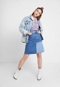 Monki - MAJA SKIRT - A-line skirt - blue-denim - 1