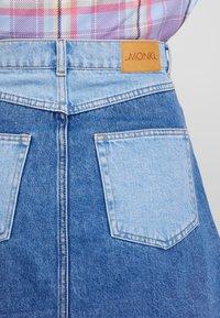 Monki - MAJA SKIRT - A-line skirt - blue-denim - 5