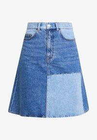 Monki - MAJA SKIRT - A-line skirt - blue-denim - 4
