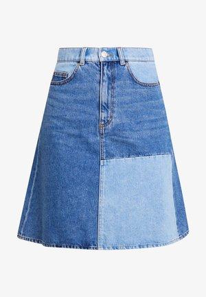MAJA SKIRT - A-snit nederdel/ A-formede nederdele - blue-denim