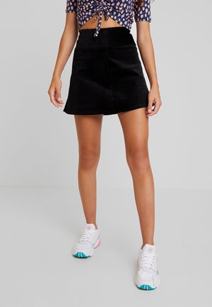 QUINN SKIRT - A-linjekjol - black dark