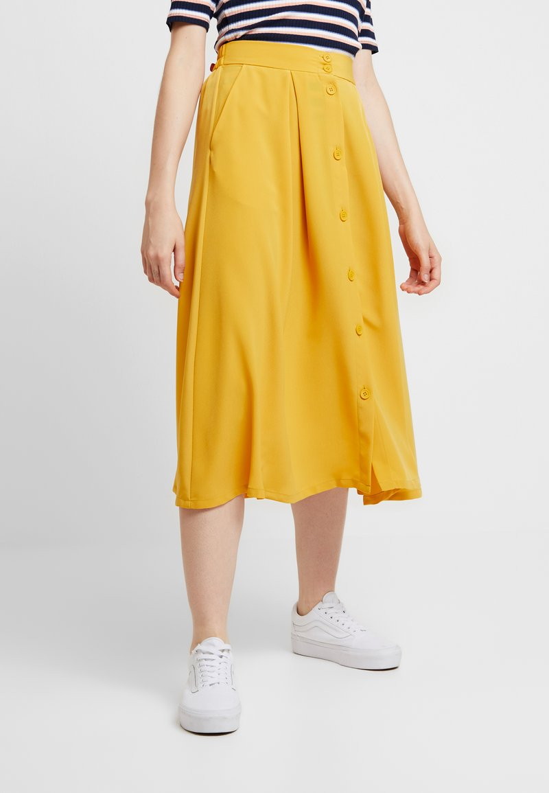 Monki - SIGRID SKIRT - A-Linien-Rock - mustard