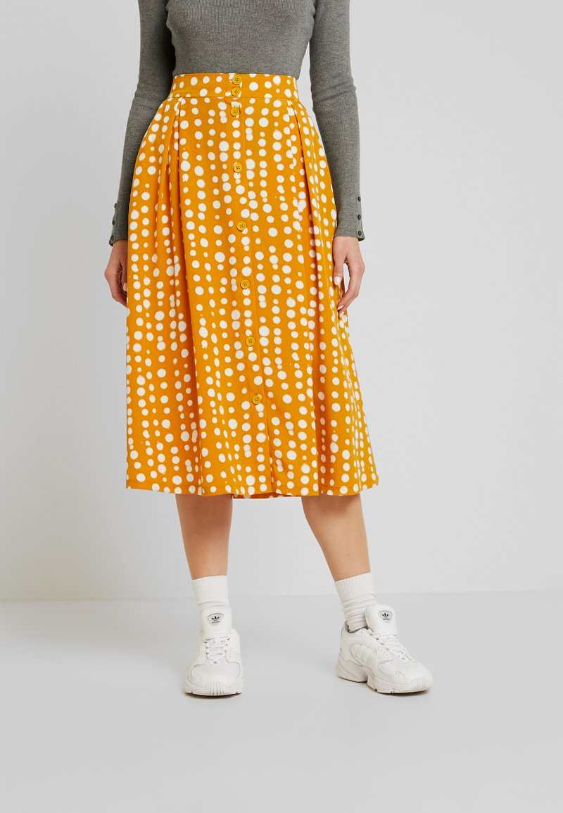 Monki - SIGRID SKIRT - A-snit nederdel/ A-formede nederdele - yellow dark unique
