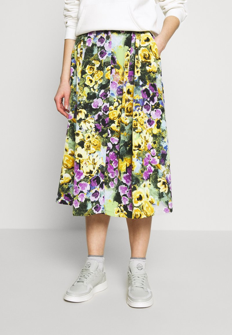 Monki - SIGRID SKIRT - A-line skirt - yellow light