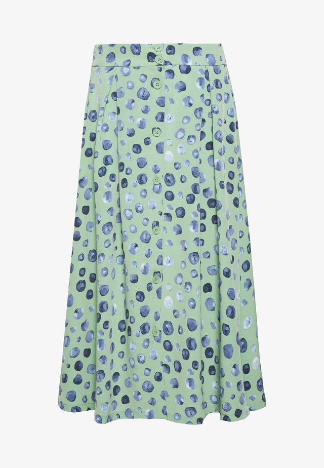 SIGRID SKIRT - Spódnica trapezowa - green/mintblue