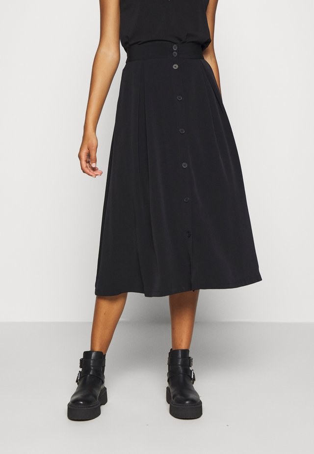 SIGRID SKIRT - A-line skjørt - black dark solid