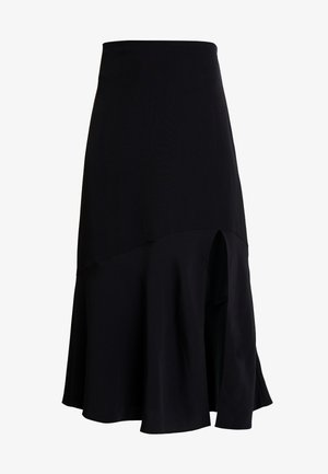 UMI SKIRT - Áčková sukně - black dark unique