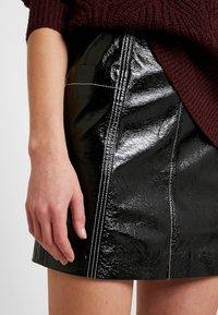 Monki - LOVA SKIRT - Minifalda - black - 4