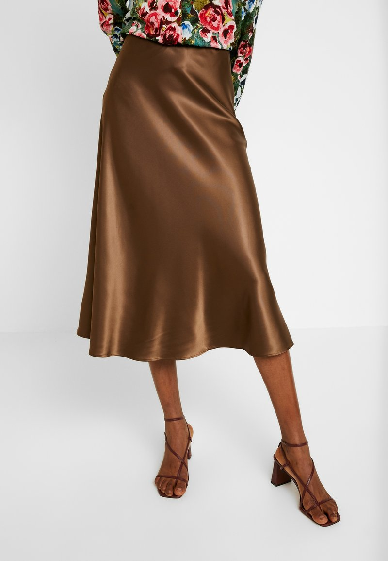 Monki - BRISA SKIRT - A-lijn rok - brown