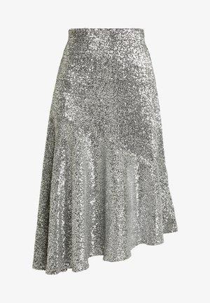 SKIRT - Áčková sukně - silver
