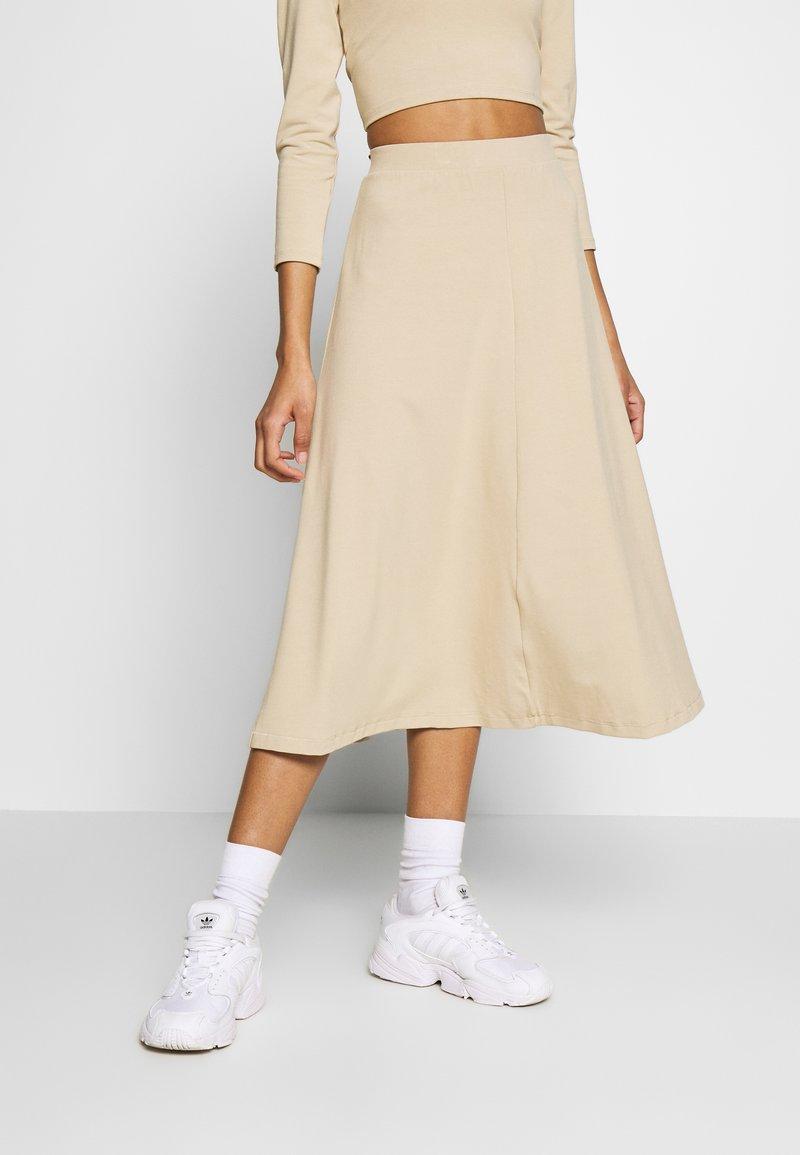 Monki - BELINDA SKIRT - A-line skirt - beige medium dusty