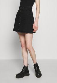Monki - MARY SKIRT - A-line skirt - dark black - 0